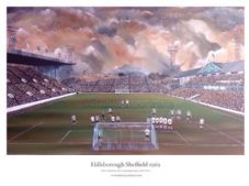 Sheffield Wednesday 'Hillsborough 1962' A3 UNFRAMED print